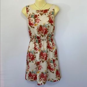 Alice + Olivia Dress Floral Fit & Flare XS Euc